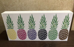 New Colorful Pineapple Sign Wall Decor For Home Office Dorm Wall Art Decoration $6.50