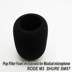 Foam Windshield for RODE M3 SHURE SM57 Musical Microphone Filter windscree Cover $3.00