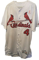 Yadier Molina St. Louis Cardinals Game Used Worn Mother's Day Signed Jersey HOLO $7500.00