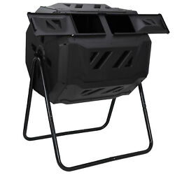 Chambers Composting Tumbler 43 Gallon Dual Outdoor Gardening Large Compost Bin $63.99