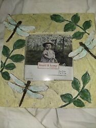Dragonfly Ceramic Pic Frame Connoisseur Heart amp; Home Frames 7x7 Pic 3x3 $8.00