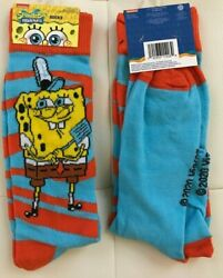 SPONGEBOB Socks 1 PAIR 🧦 Size 6 12 Fast Shipping Nickelodeon SQUAREPANTS $5.99