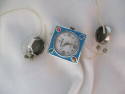 Chico#x27;s Watch Square Shaped Silver Toned Colorful Boho DIY Project WORKING $89.00