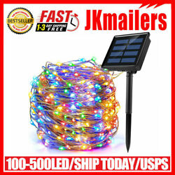 100 500 LED Solar Power String Fairy Lights Garden Outdoor Party Christmas Lamp