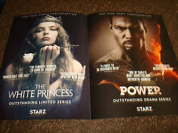 THE WHITE PRINCESS and POWER 2017 Emmy ad Jodie Comer amp; AMERICAN GODS with bison $4.98