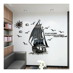 3D Three Dimensional Wall Stickers Inspirational Stickers Creative OfficeCulture $26.34