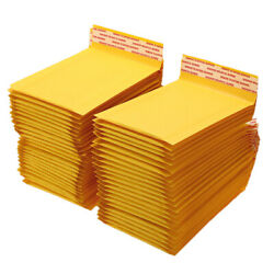 50 100 200 500 Kraft Bubble Mailers Padded Envelope Shipping Bags Seal Any Size $5.98
