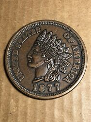 Novelty Large Coin 1877 Cent 3quot; Coaster Paperweight $12.99
