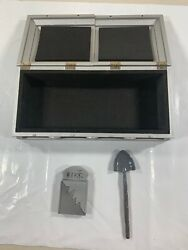 WWE Casket Playset Accessory Silver Ringside Collectibles Exclusive Tombstone X1 $29.99