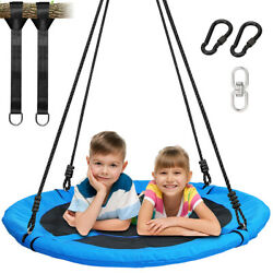 40quot;Flying Saucer Swing Nest Swing Round Outdoor Swing Set for Kids Easy Assembly $78.88