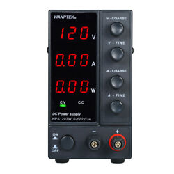 WANPTEK 0 120V 0 3A Switching DC Power Supply 3 Digits Display High Precision $89.98