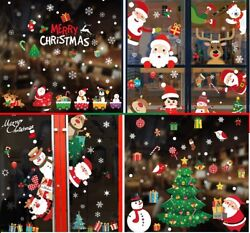 Christmas Party Home Decor Wall Stickers PVC Stickers Glass Window Removable $3.99