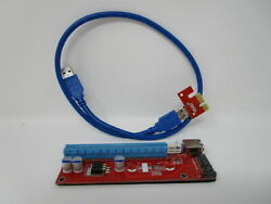USB 3.0 PCI PCI E Express 1x To 16x Extender Riser Card Adapter Power Cable $9.95