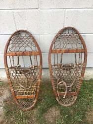 Vintage Pair Of Vermont Tubbs Snowhoes $129.00