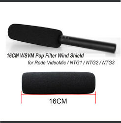 WSVM Foam Windscreen for Rode NTG1 NTG2 NTG 3 VideoMic Windshield Microphone $5.00