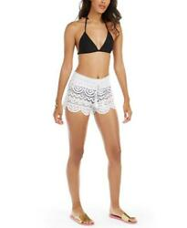 MIKEN Cover Up Shorts Swim Scalloped Lace XS Brand New with Tag quot;FREE SHIPPINGquot; $18.99