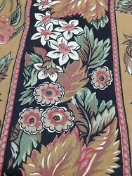 Fabric Panel Vintage Material Browns and Pinks Colorful 42 Wide inches 54 Long $14.99