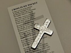 Cross in pocket with prayer $2.99