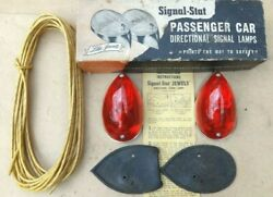 NOS Signal Stat DIRECTIONAL TURN SIGNAL LAMPS Original Vintage Accessory pair $285.00