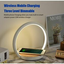 Modern LED Table Lamp with Wireless Charging Phone Desk Dimmable LED Charge Lamp $71.99