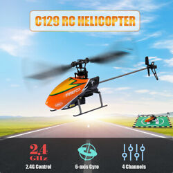 C129 RC Helicopter 4CH Mini Aileronless Helicopter RC Aircraft Drone 6 axis Z7E2 $68.49