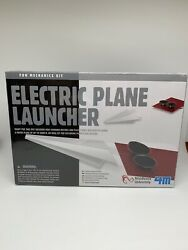 4M Electric Plane Launcher Kit Fun Mechanics Paper Airplanes New Sealed In Box $11.50