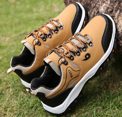 Mens Hiking Boots Walking Wide Fit Trail Trekking Trainers Sneakers Shoes $32.99
