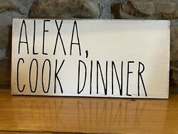 Kitchen rustic farmhouse wood sign primitive home decor country chic Alexa Funny $12.99