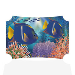 Home Decor Wall Sign Underwater with Tropical Fish C Art Picture Frame $15.99
