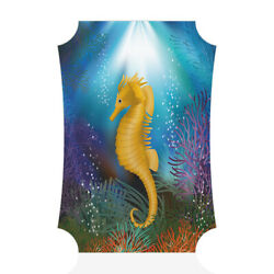 Home Decor Wall Sign Underwater with Seahorse Fish Art Picture Frame $15.99