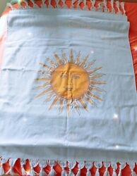 Dolce amp; Gabbana quot;Light Blue Sunquot; Beach Towel Cotton Fringe Tassel Damp;G Terry Bath $20.00