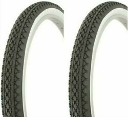 TIRES 26X2.125 DIAMOND TREAD WHITE WALL BEACH CRUSIER LOWRIDER BIKES 2PCS $59.99