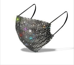 Bling Rhinestone Glitter MESH Fashion Face Mask COVER US SELLER FREE SHIPPING $7.50