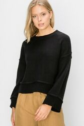 Double Zero Nordstrom Black Long Sleeve Pullover Sweater $29.95