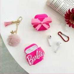 Cute Cartoon Pink Bow Barbie Silicone Case cover for Airpod 1 2 Pro Accessories $8.95
