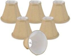 Chandelier Lamp Shades ONLY for Candle Bulbs Clip on Fitter Bell 3quot; X 6quot; X 5quot; $17.99