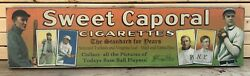 Rustic Style Direct Print to Wood T206 Sweet Caporal Tobacco Baseball Ad Ty Cobb $24.95