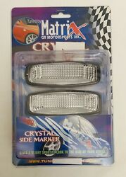 94 95 Honda Accord Clear Dome Crystal Side Marker Lights NEW In Box $24.75