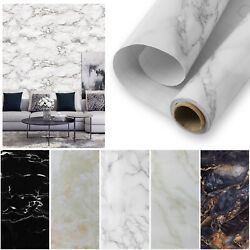 Marble Wall Stickers Self Adhesive Kitchen Waterproof Wallpaper Decal Home Decor $16.95