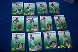 1989 FLEER ALL STAR 12 CARDS SET CANSECO MOLITOR STRAWBERRY CLARK TRAMMELL $1.75