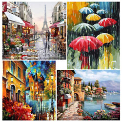 DIY Painting Picture Canvas Oil Paint By Numbers Kits Art Wall Decor Frameless $8.99