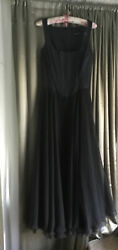 Vintage Betsy Johnson Evening Dress Bodice Top Long Chiffon 3 Layer Skirt