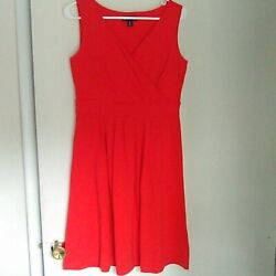 Lands End red cocktail dress size small 6 8 $30.00