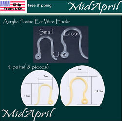 Acrylic Plastic Ear Wire Hooks Metal Allergy Free French Fish Hook $3.49