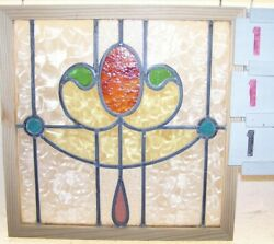 OLD LEADED English stained glass window $90.00