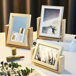 Creative Wood Glass Diy Frame Simple Bedroom Home Decor Photo Frames Ornaments $38.96
