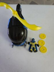 Imaginext BatCopter BATMAN helicopter 2008 DC Super Friends Works COMPLETE $12.75