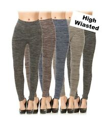 Women#x27;s Fleece Lined High Waisted Leggings Winter Thick Warm Thermal Stretchy $6.99