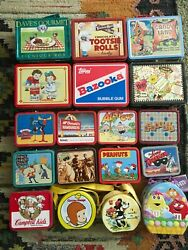 Assorted Small amp; Large Novelty Metal Lunchboxes YOU CHOOSE 1990s Advertising $11.00