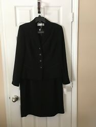 Womans Travis Ayers Black Skirt Suit Size 14 $52.50
